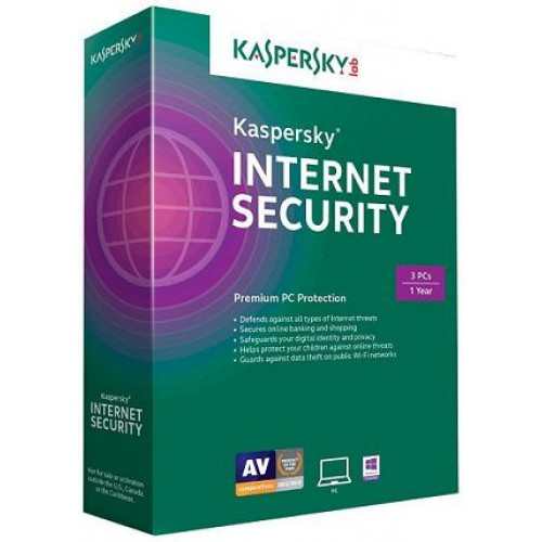 Phần mềm Kaspersky Internet Security 2015 Box, 1 year, 3 user