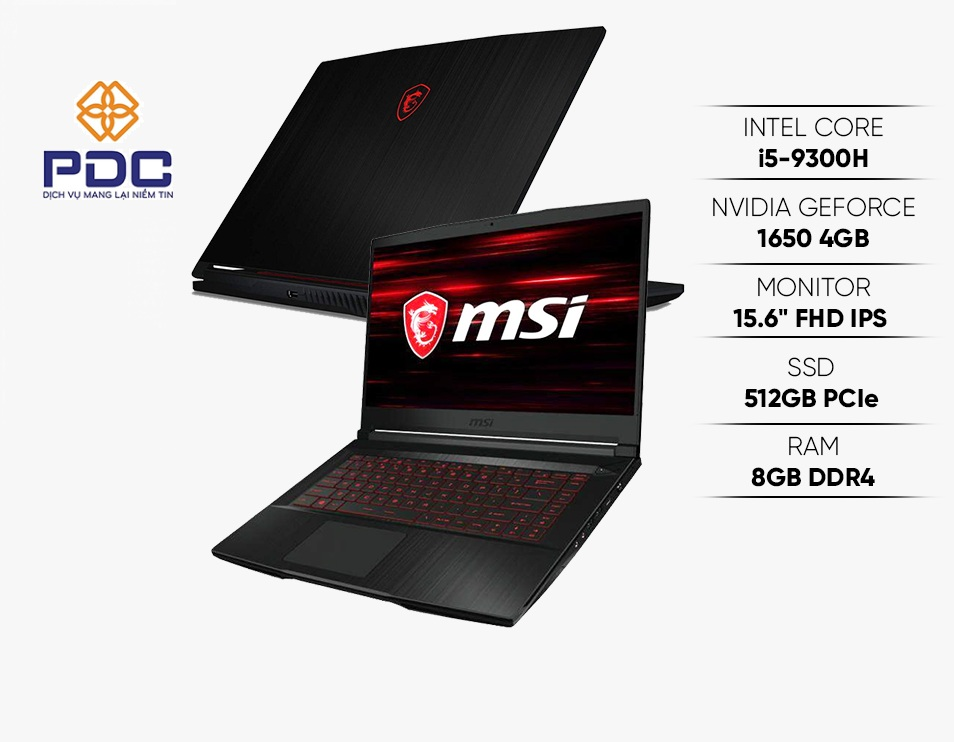 LAPTOP GAMING MSI GF63 THIN 9SCXR 075VN