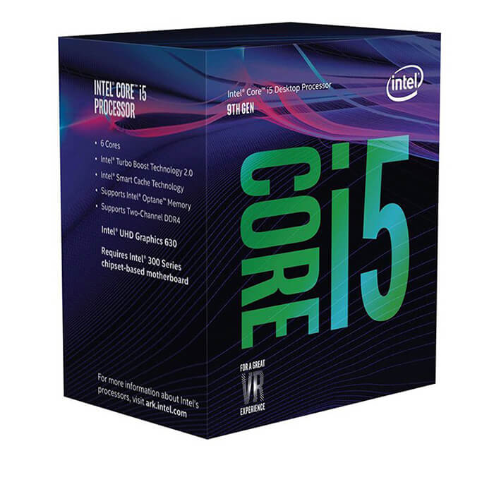 CPU Intel Core i5-9400F 2.90Ghz Turbo up to 4.10GHz / 9MB / 6 Cores, 6 Threads / Socket 1151 / Coffee Lake BOX_NK